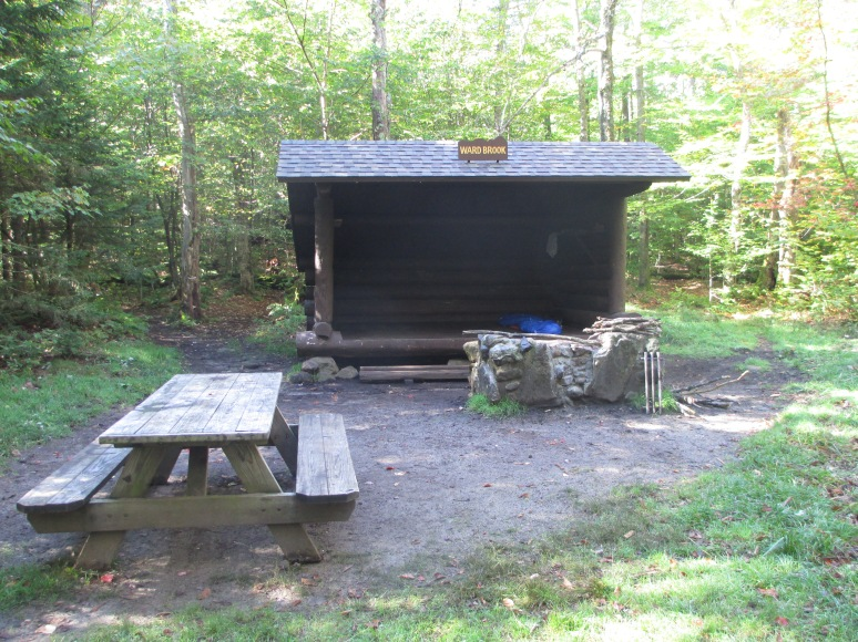 Ward Brook lean-to